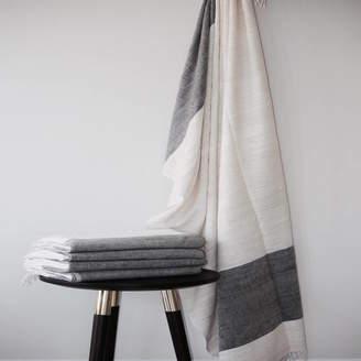 QÄSA QÄSA Large Naturally Dyed Eri Silk Throw / Baby Blanket