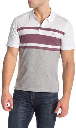 Original Penguin Striped Colorblock Polo