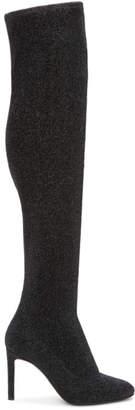 Giuseppe Zanotti Black Stretch Lurex Over-the-Knee Boots