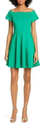 Ted Baker Fellama Scallop Detail Skater Dress