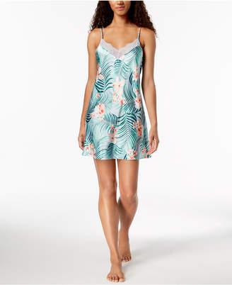Thalia Sodi Tropical-Print Sheer Lace Chemise, Created for Macy's