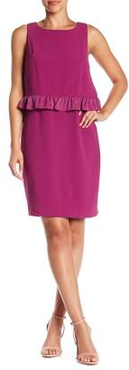 Trina Turk Tieges Ruffle Overlay Dress