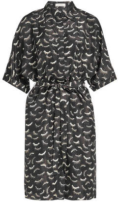 Nina Ricci Printed Silk Dress with Belt