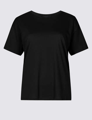 Limited Edition Cotton Blend Round Neck Short Sleeve T-Shirt