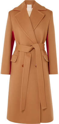 Roksanda Nate Two-tone Wool And Cashmere-blend Coat - Beige