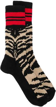 Alexander McQueen colour-block socks