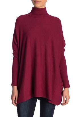 Joseph A Solid Turtleneck Poncho Sweater (Petite)