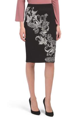 Elastic Band Jacquard Pencil Skirt