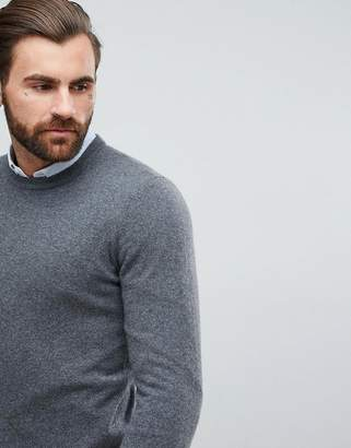 Asos Cashmere Sweater In Charcoal