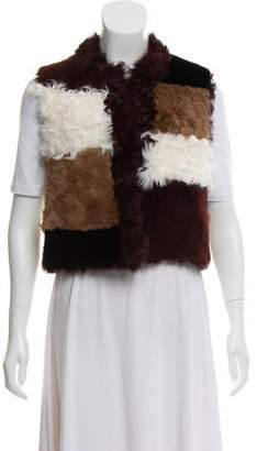 Jocelyn Sleeveless Fur Vest