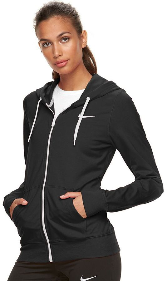 Women's Nike Solid Jersey Full-Zip Hoodie