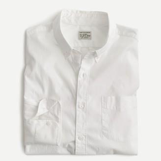 J.Crew Untucked stretch Secret Wash shirt in white poplin
