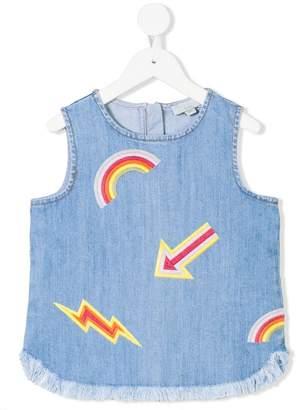 Stella McCartney Violetta embroidered denim top