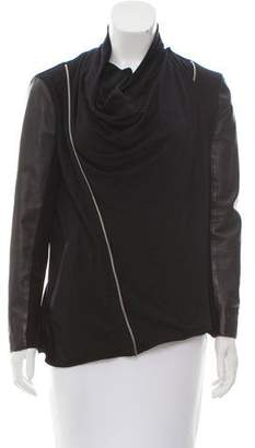Yigal Azrouel Leather-Accented Jersey Jacket
