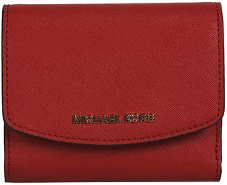 Michael Kors Logo Plaque French Wallet