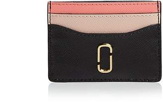Marc Jacobs Snapshot Color-Block Embossed Leather Card Case