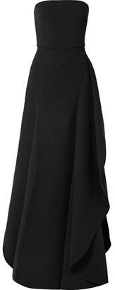 Elie Saab Asymmetric Cady Gown - Black