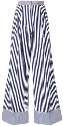 Rossella Jardini striped wide leg trousers