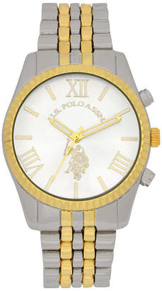 U.S. Polo Assn. USPA Womens Two Tone Bracelet Watch-Usc40057jc