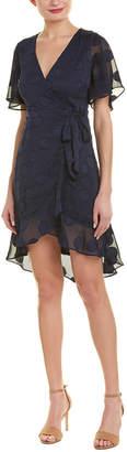 Harper Rose Jacquard Silk-Blend Wrap Dress