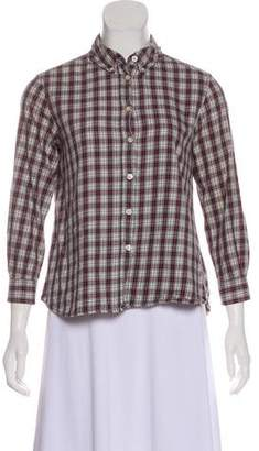 The Great Plaid Button-Up Top