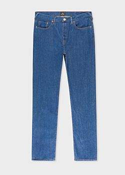 Paul Smith Men's Tapered-Fit Blue Rinse 9.8oz 'West Coast Denim' Jeans