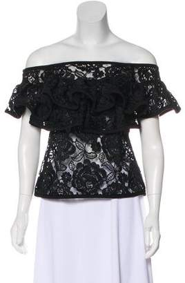 Alexis Ruffled Lace Top