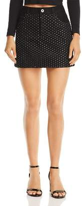 Pistola Ryder Embellished Fishnet Denim Skirt - 100% Exclusive