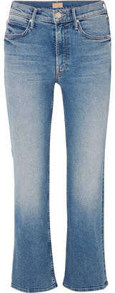 Mother The Dutchie Cropped Mid-rise Flared Jeans - Mid denim
