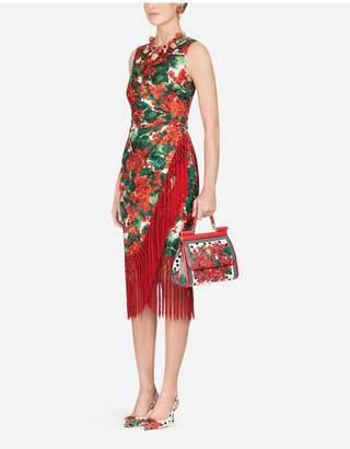 Dolce & Gabbana Portofino-Print Twill Midi Dress