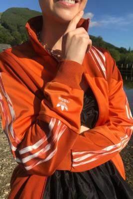 Urban Outfitters Adidas Originals,Adidas Original X Danielle Cathari adidas Originals X Danielle Cathari Fox Red Track Top - orange UK 6 at