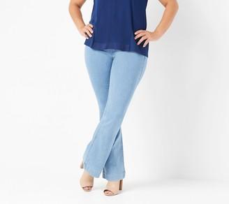 Laurie Felt Petite Silky Denim Flare Pull-On Jeans