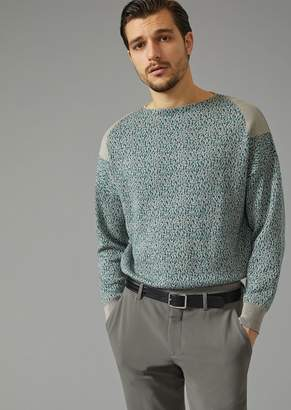 Giorgio Armani Sweater In Flecked Knit