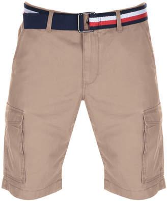 Tommy Hilfiger John Twill Belt Cargo Shorts Brown