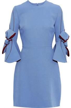 Roksanda Harlin Bow-detailed Crepe Mini Dress