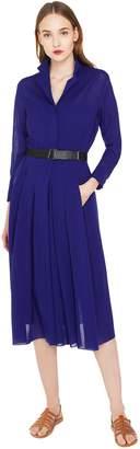 Akris Belted Wool Georgette Dress