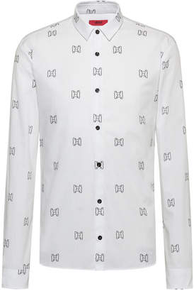 HUGO BOSS Men's Bear Print Shirt