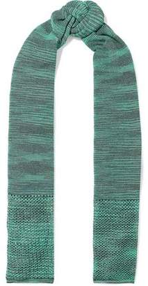 M Missoni Metallic Open And Crochet-Knit Scarf