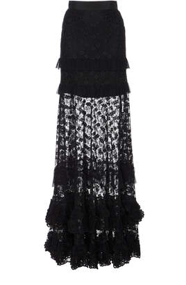 Alexis M'O Exclusive Janis Ruffle Maxi Skirt