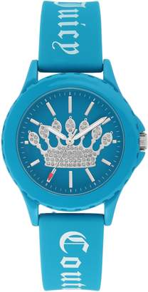 Juicy Couture Ladies' Blue Sparkle Crown Watch