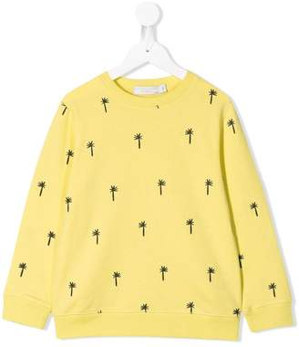 Stella McCartney palm tree embroidered jumper