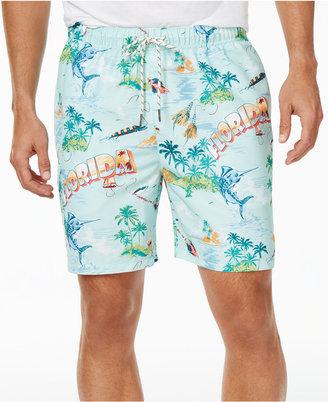 Tommy Bahama Men's Naples Florida Seas Sun Protection 30 Swim Trunks $68 thestylecure.com