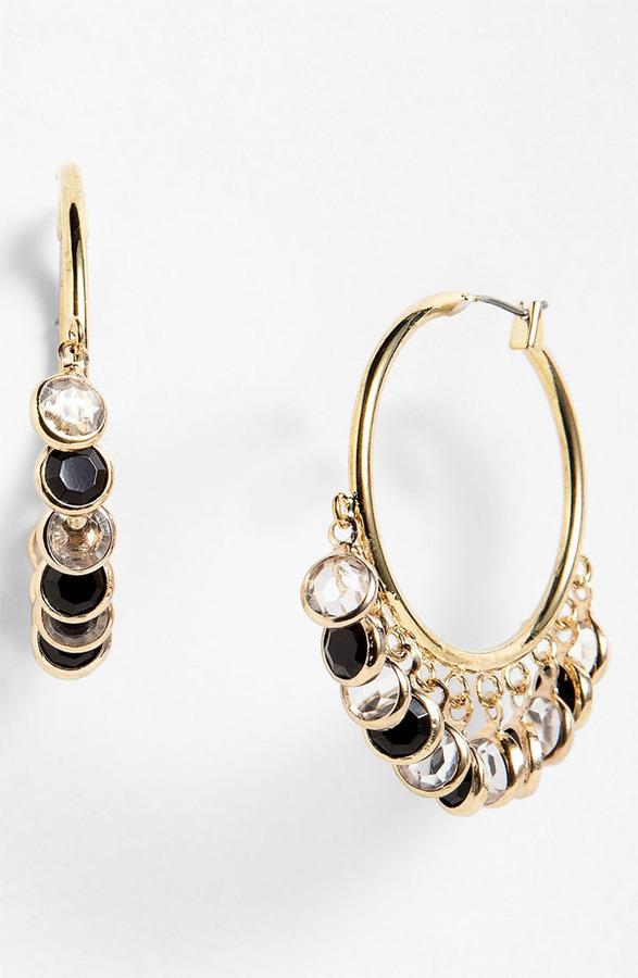 Anne Klein 'Beacon' Hoop Earrings