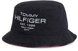 Tommy Hilfiger Am Mustique Logo Embroidered Reversible Bucket Hat