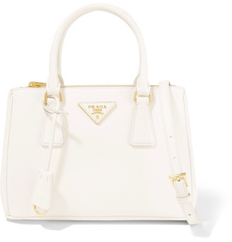 Prada - Galleria Mini Textured-leather Tote - White $1,920 thestylecure.com