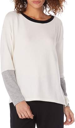 Michael Stars Madison Colorblock Boatneck Long Sleeve Tee