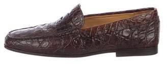 Tod's Alligator Dress Loafers