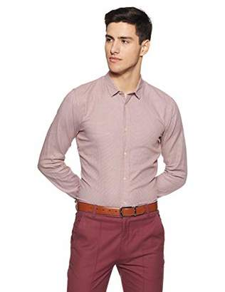 Scotch & Soda Men's Slim Fit Classic Shirt in Structured Weave