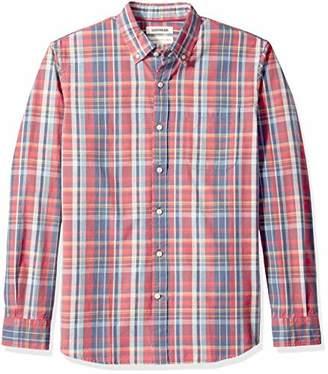 Goodthreads Men's Standard-Fit Long-Sleeve Pattern Chambray Shirt