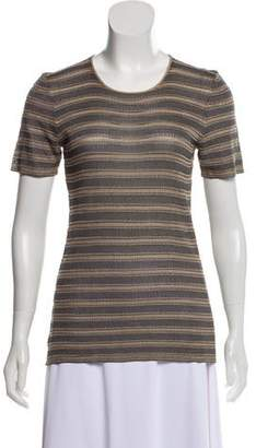 Giorgio Armani Striped Knit Top